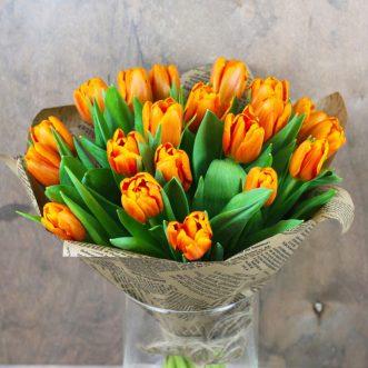 21 оранжевый тюльпан