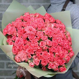 101 кустовая роза 60 см.