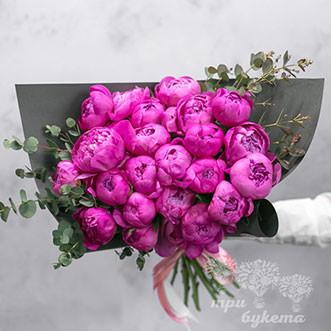 25 розовых пионов Александр Флеминг в Premium упаковке