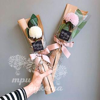 Мини-букет из хризантемы