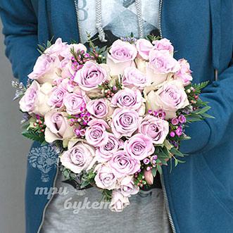 Букет из 29 сиреневых роз